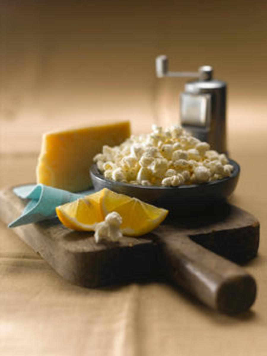 Lemon Pepper and Parmesan Popcorn