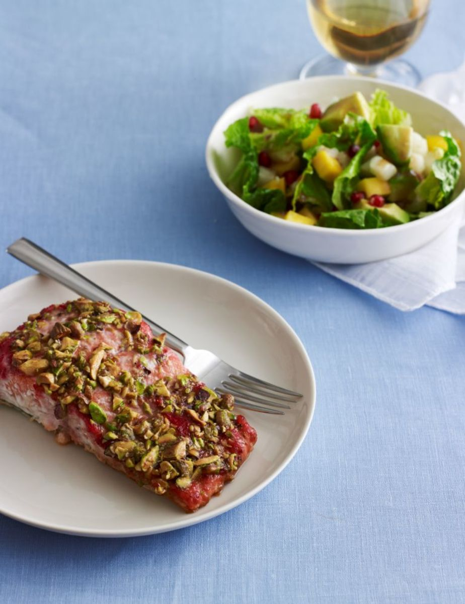 salmon and pomegranate salad for passover