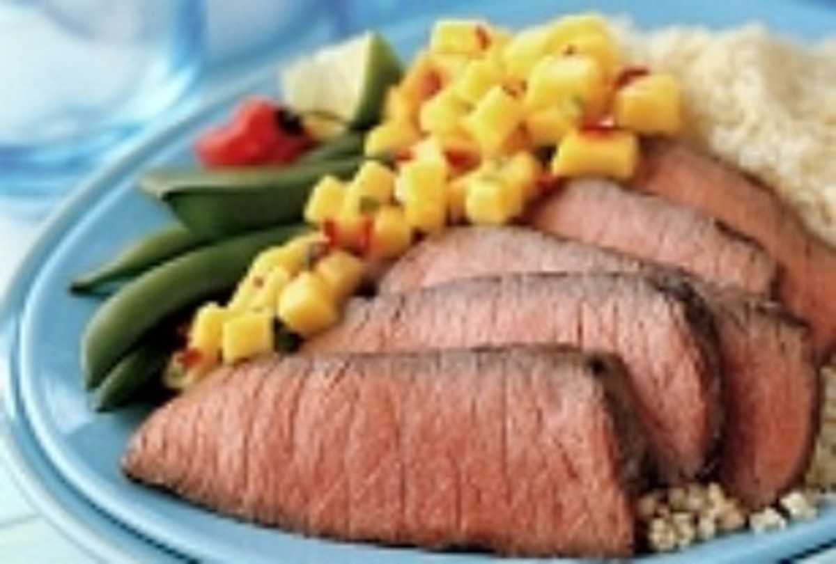 Grilled Steak with Mango Salsa
