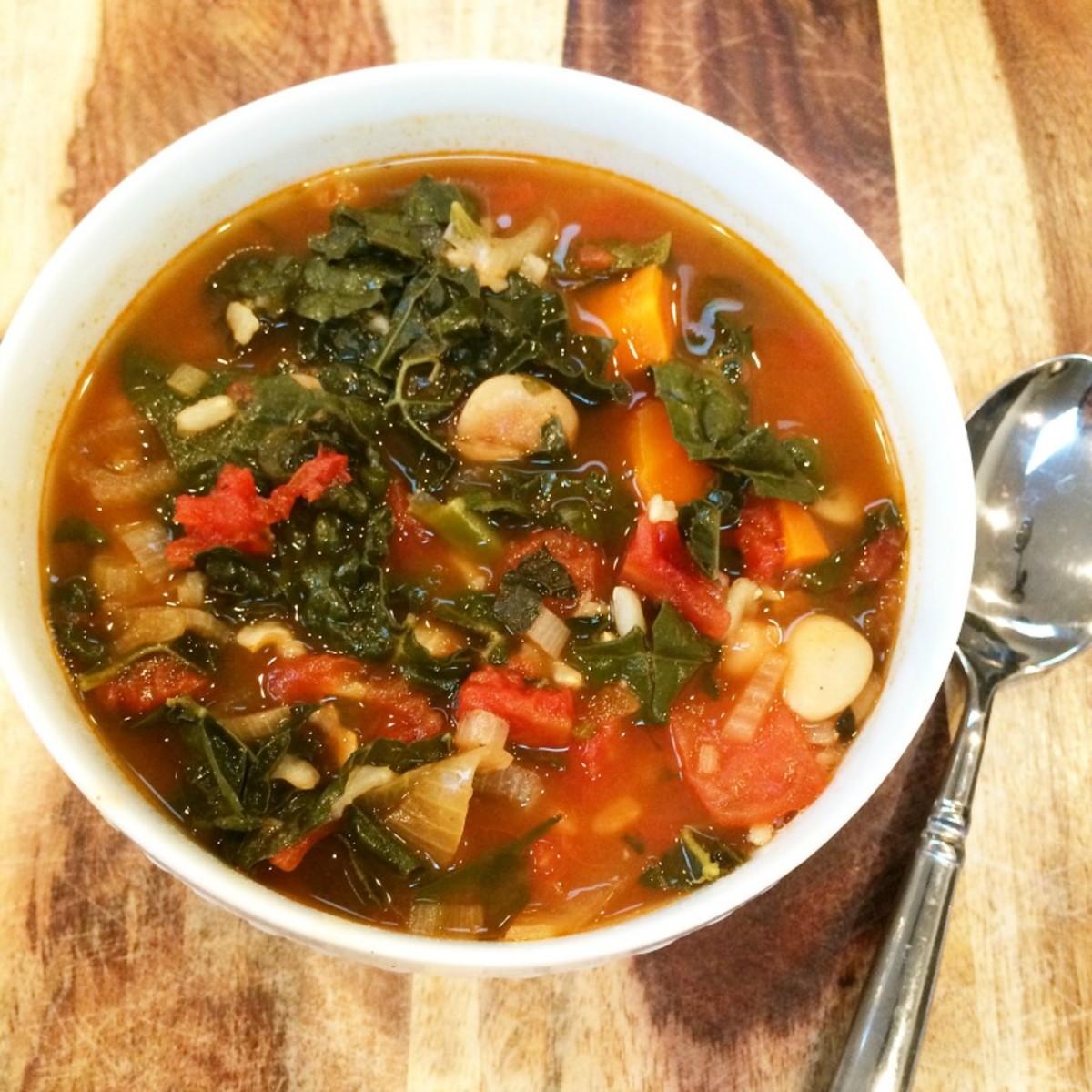 Hearty Kale-Bean Soup8
