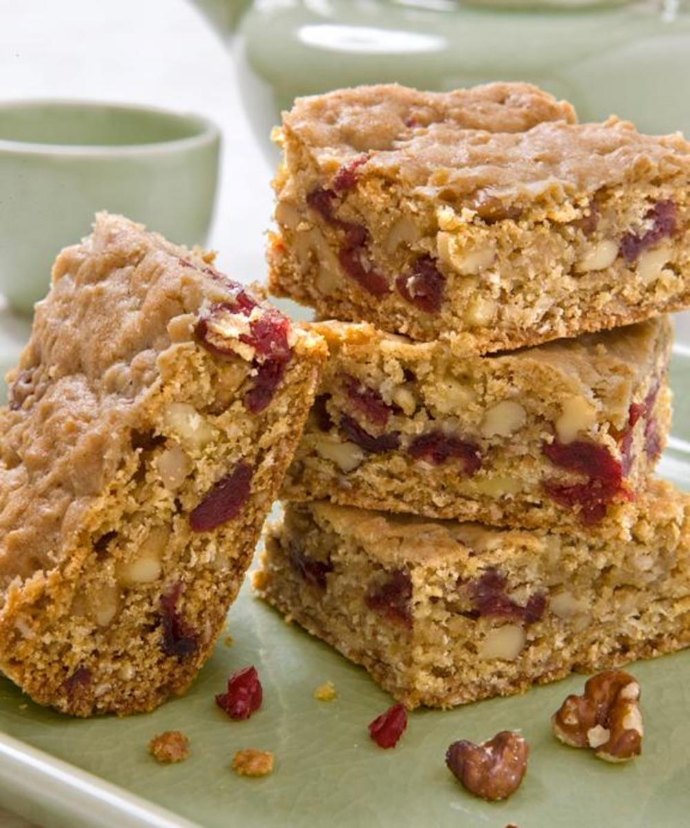 Oatmeal, Walnut, Cranberry Bar