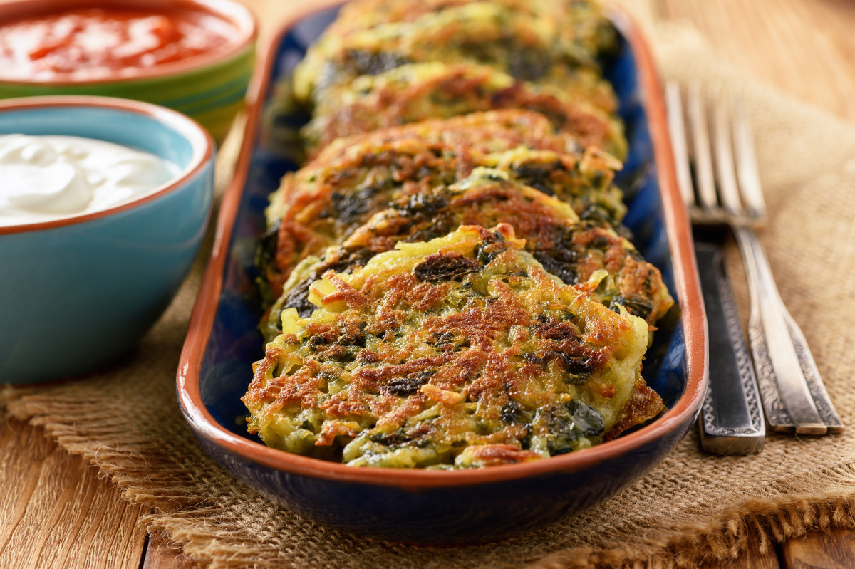SPINACH POTATO STEAKHOUSE LATKES