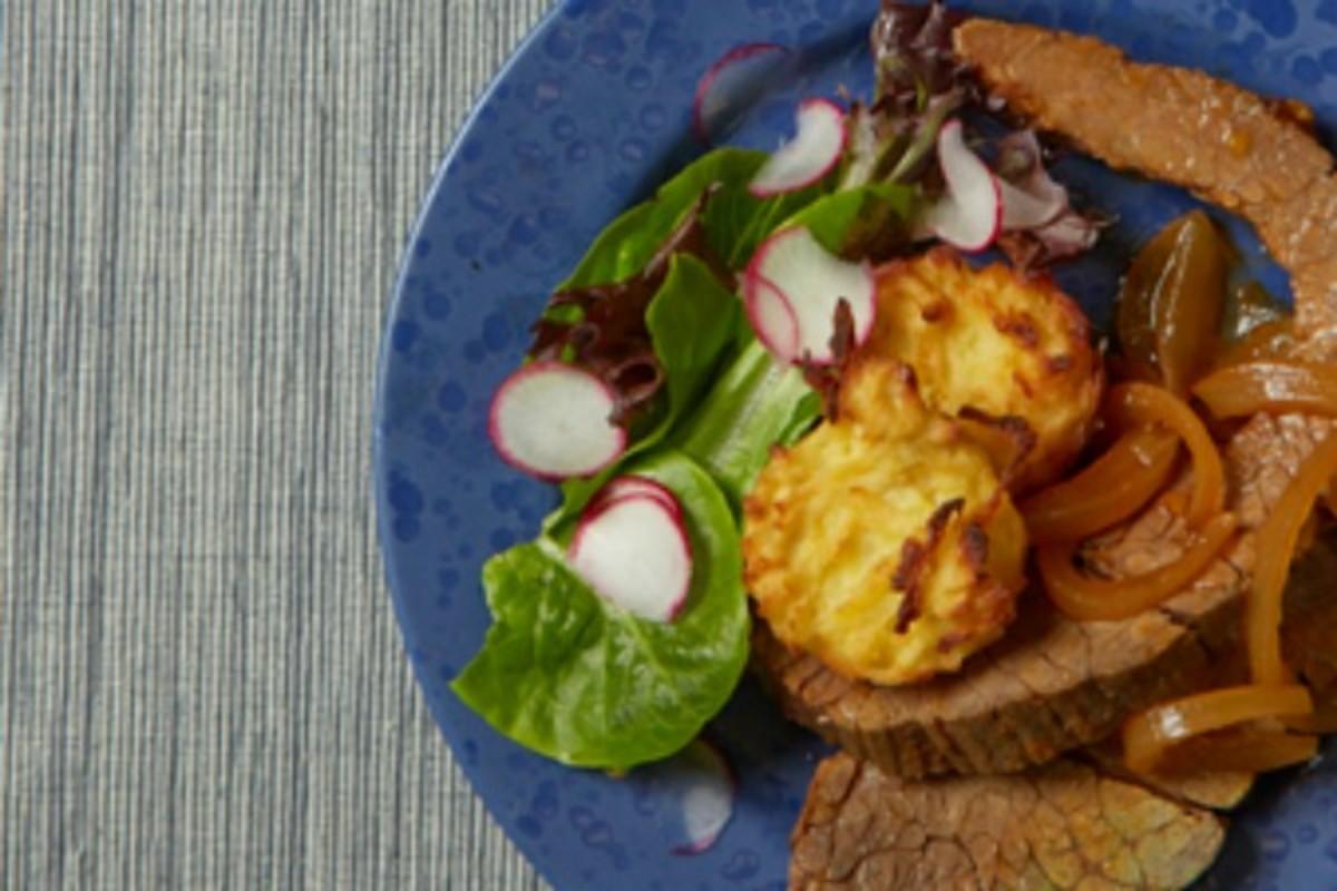 Horseradish Potato Kugel Muffins64