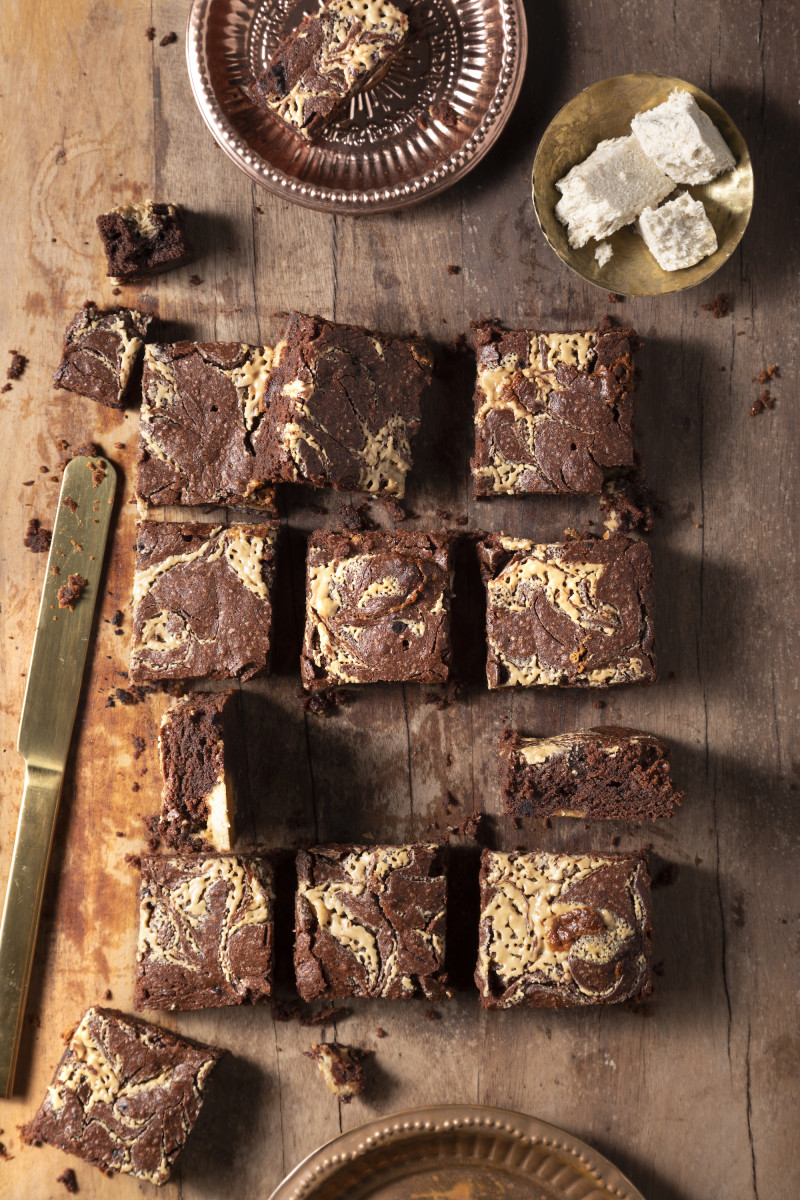 Tahini Halva Brownies