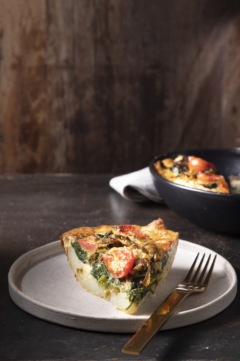 Potato Crusted Non-Dairy Quiche
