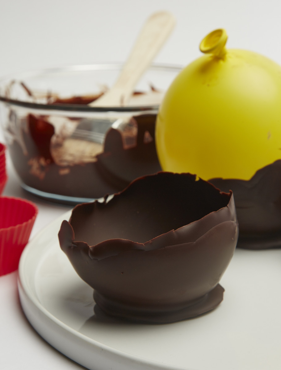 Edible chocolate bowls