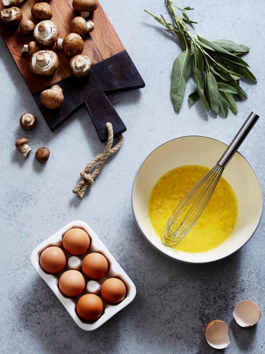 Mushroom Sage Omelet 2