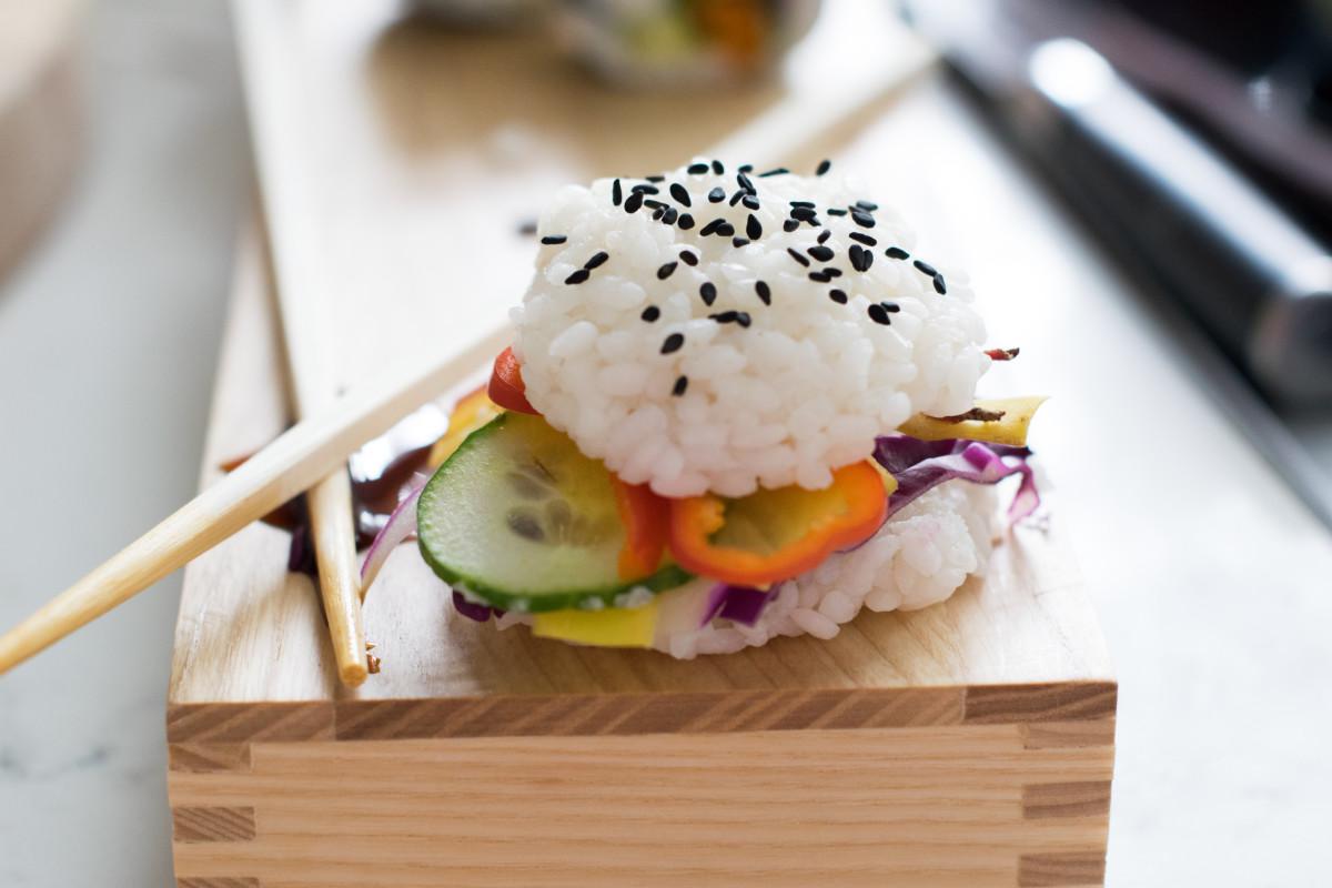 vegan sushi burger 2