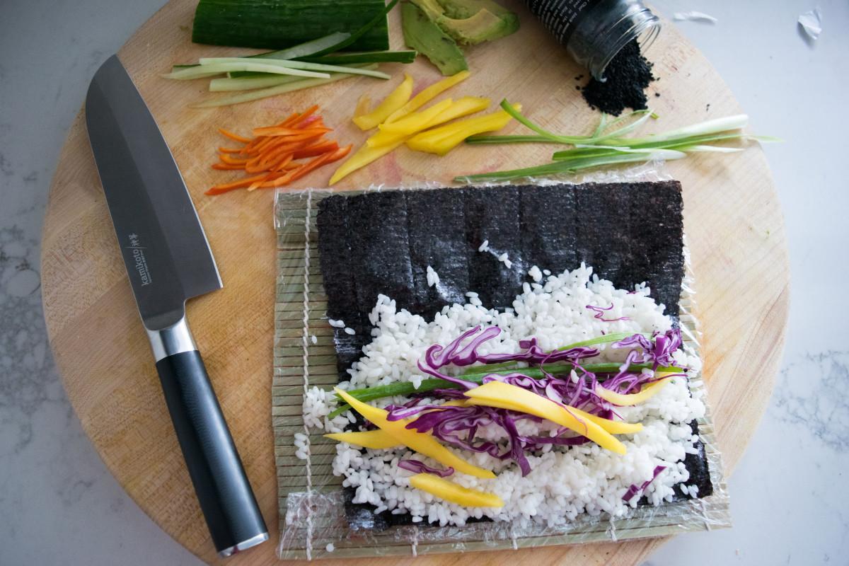 vegan sushi maki roll