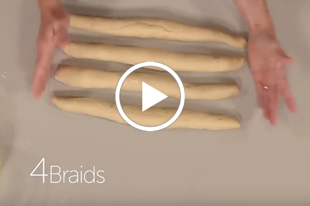 How To Make a 4 Braided Challah - Jamie Geller