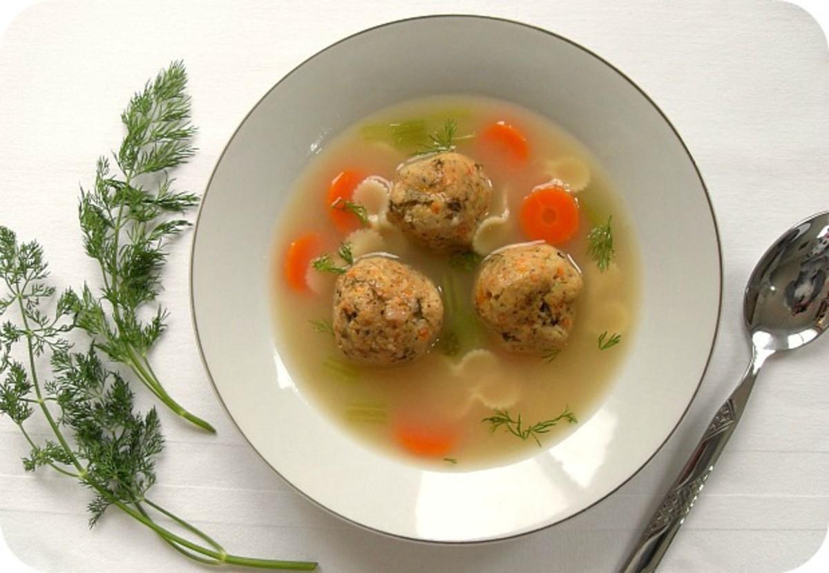 Carrot Dill Matzah Balls