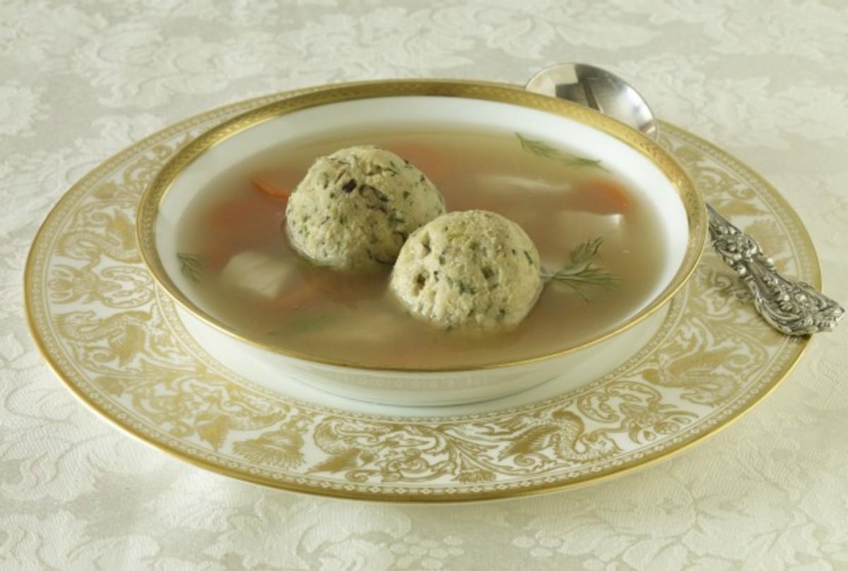 Matzah ball soup