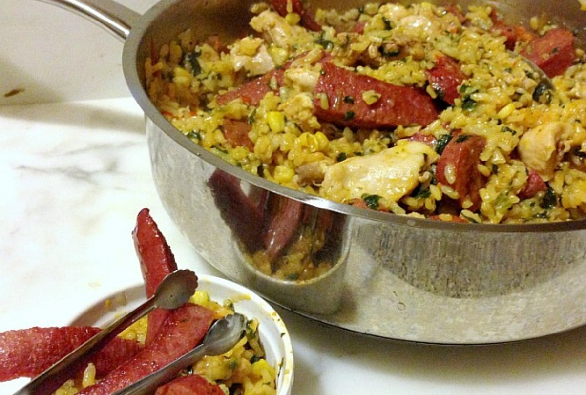 kosher meat paella