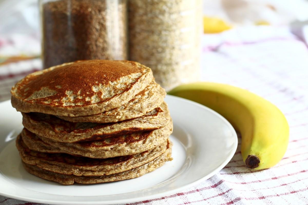 Healthy breakfast pancakes