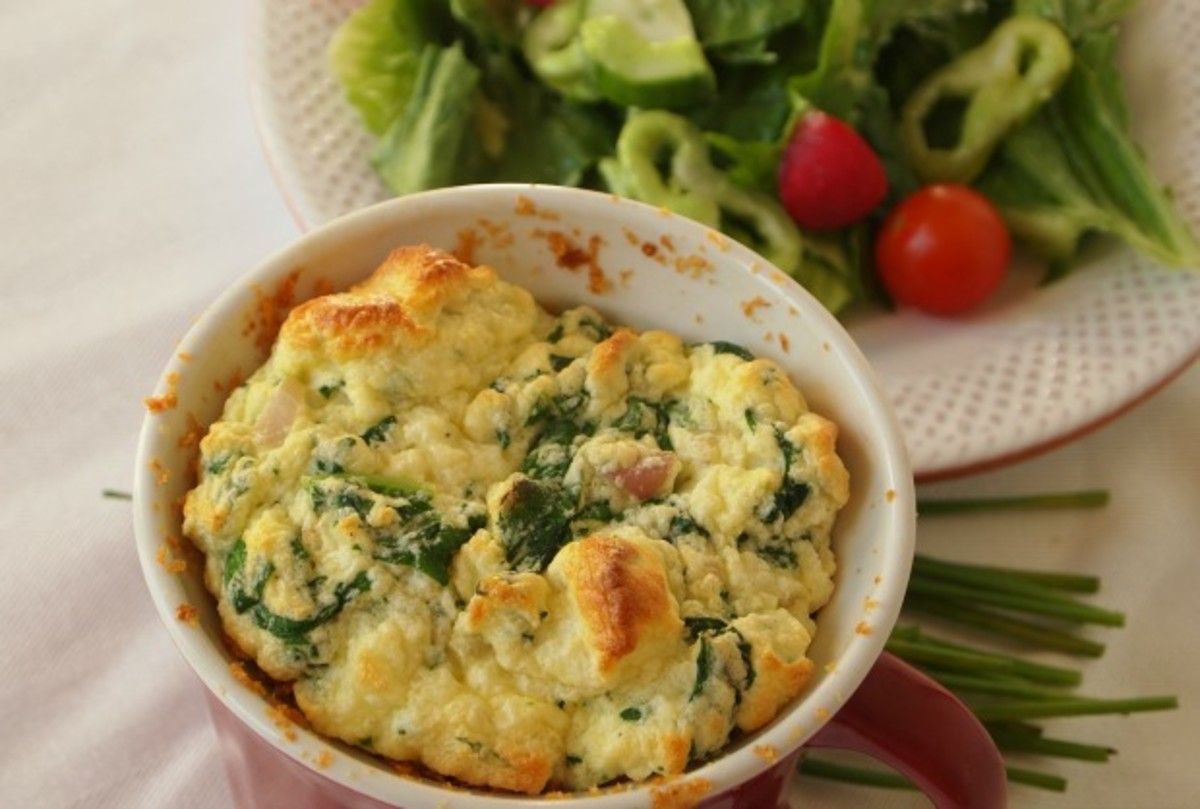 light spinach souffle