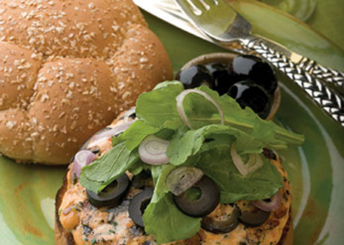 California Salmon Burger