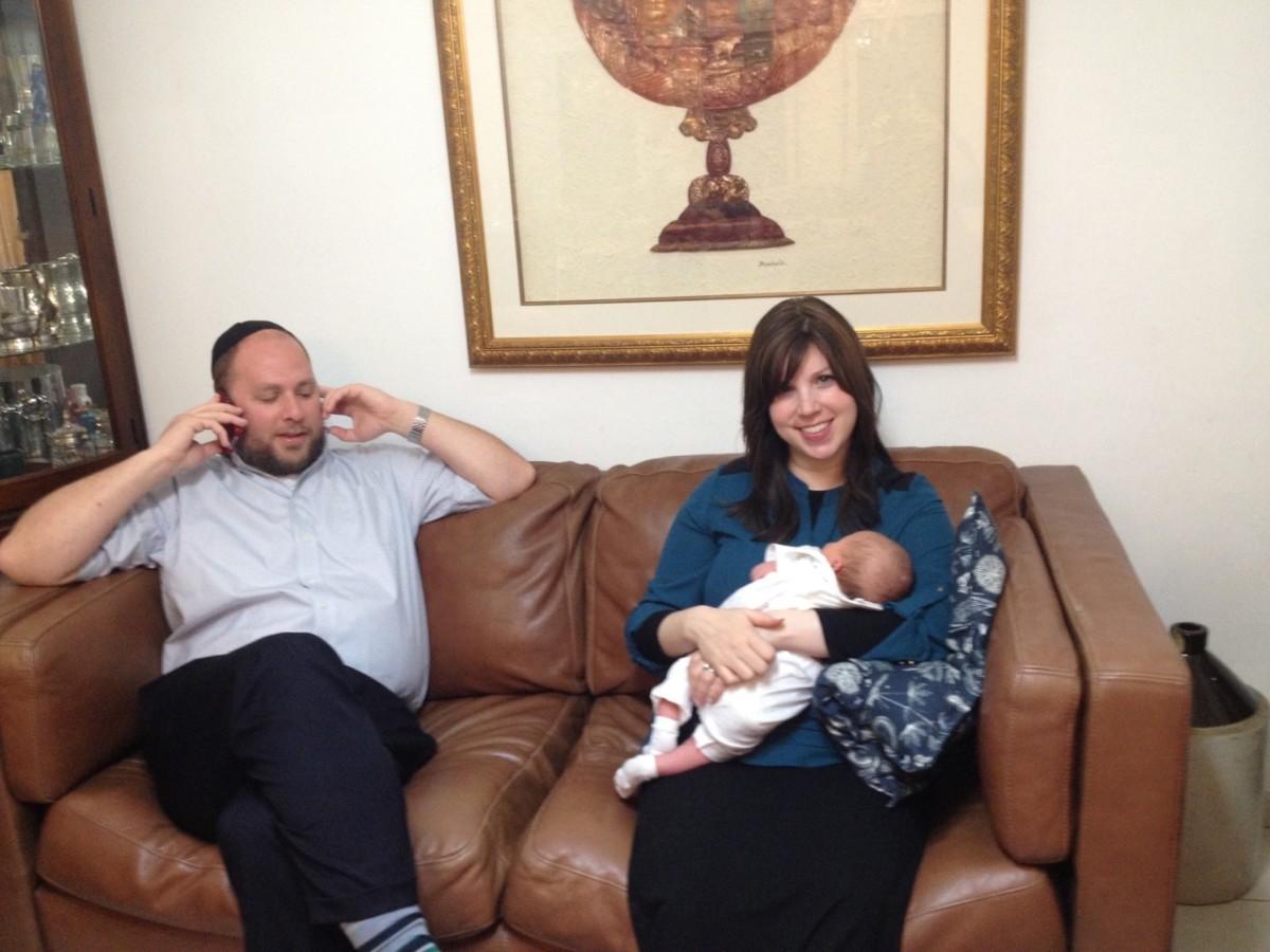 Jamie Geller and baby