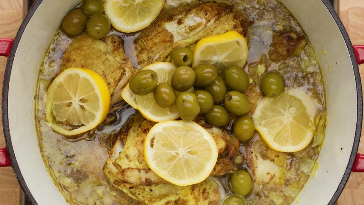 Lemon and Olive Chicken Tagine