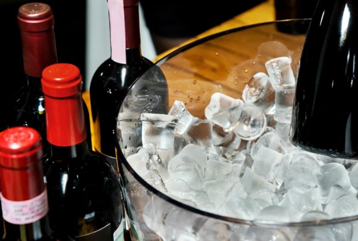wine on ice