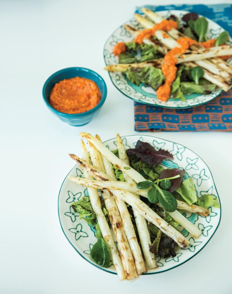 Asparagus Salad with Romesco