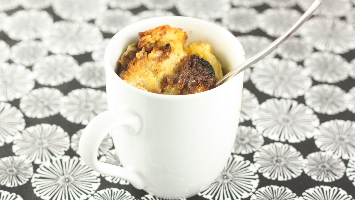 Cinnamon Bun French Toast In A Mug