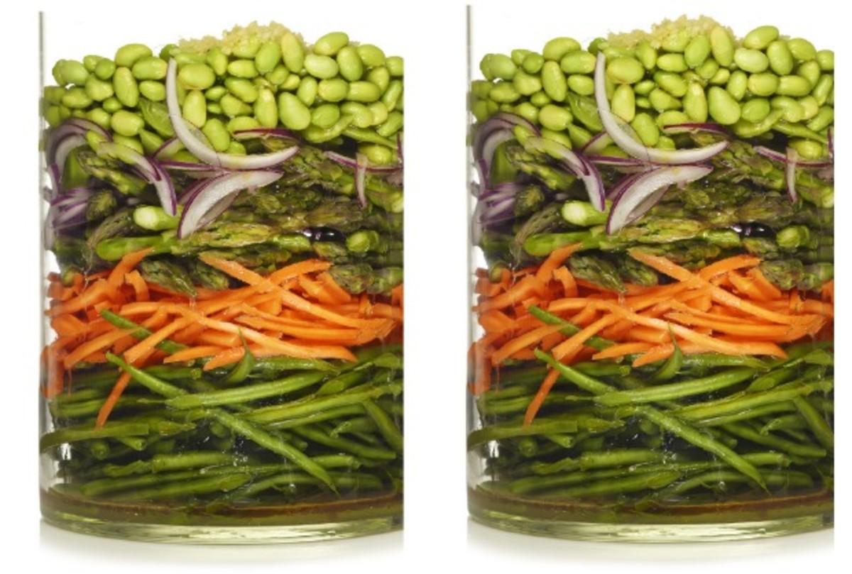 marinated vegetable salad modern menu raw vegan