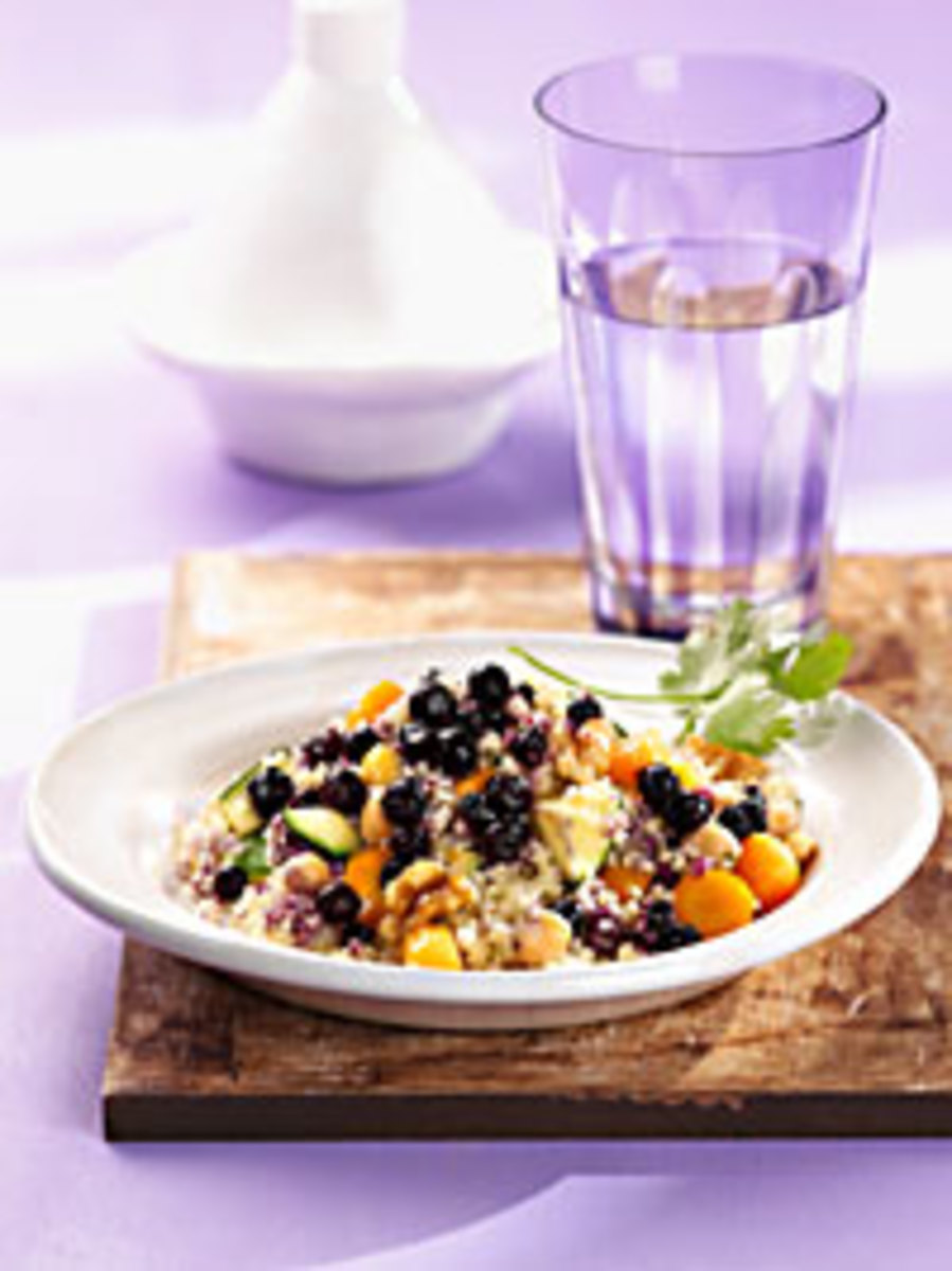 Vegetable Couscous with Wild Blueberries