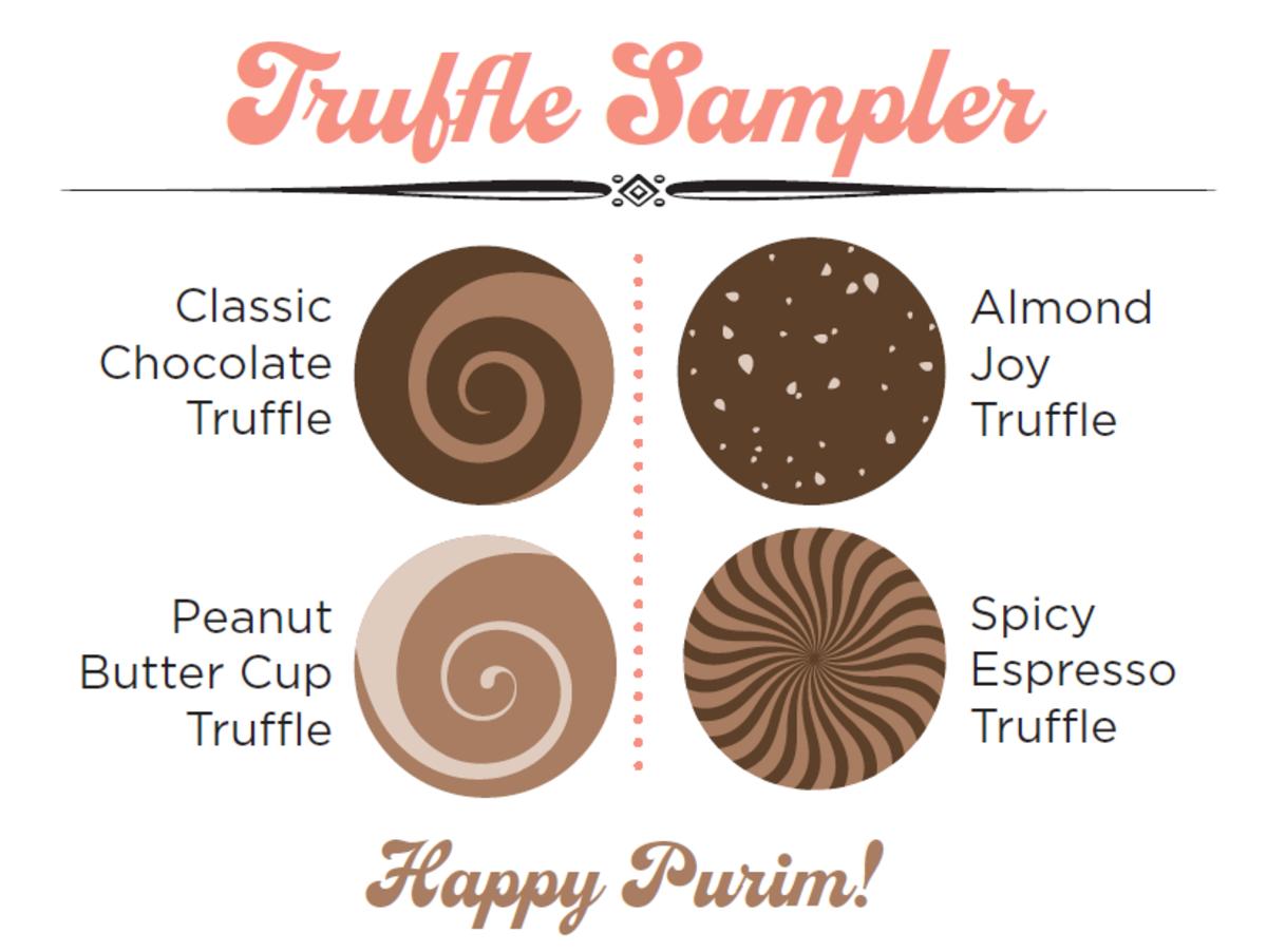 truffle sampler card