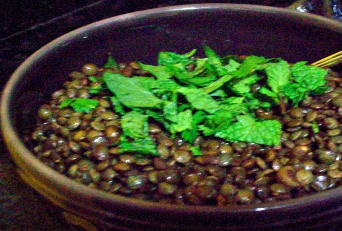 Spiced Lentils with Mint and Cilantro
