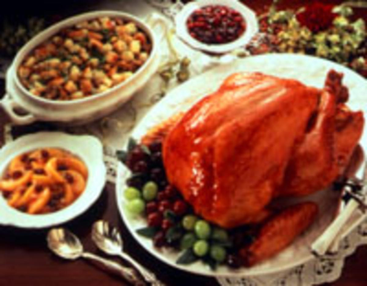 Roast Turkey with Honey-Mustard Glaze