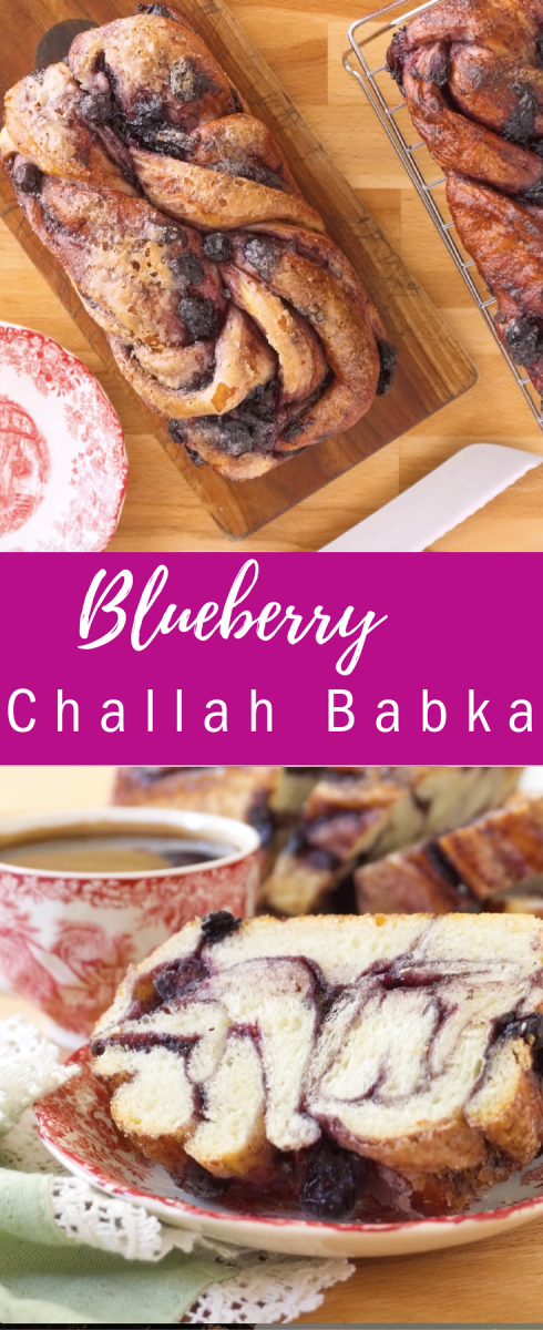 Blueberry Challah Babka pin