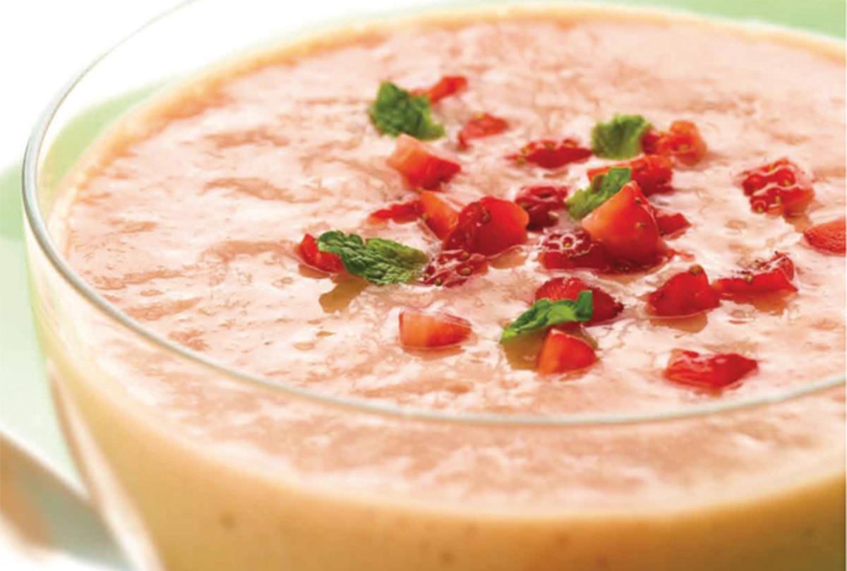 Mango Strawberry Soup