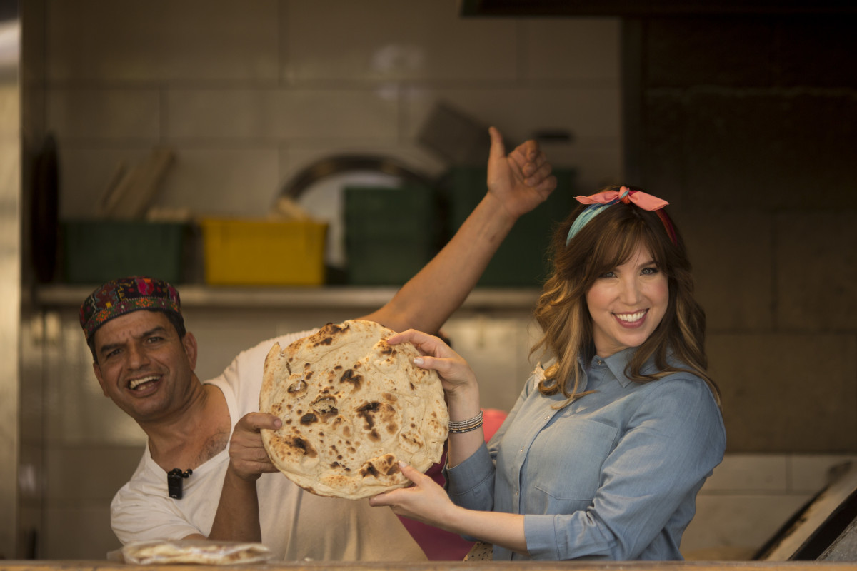 Iraqi Pita makes me smile - at Haba in Shuk Machane Yehuda