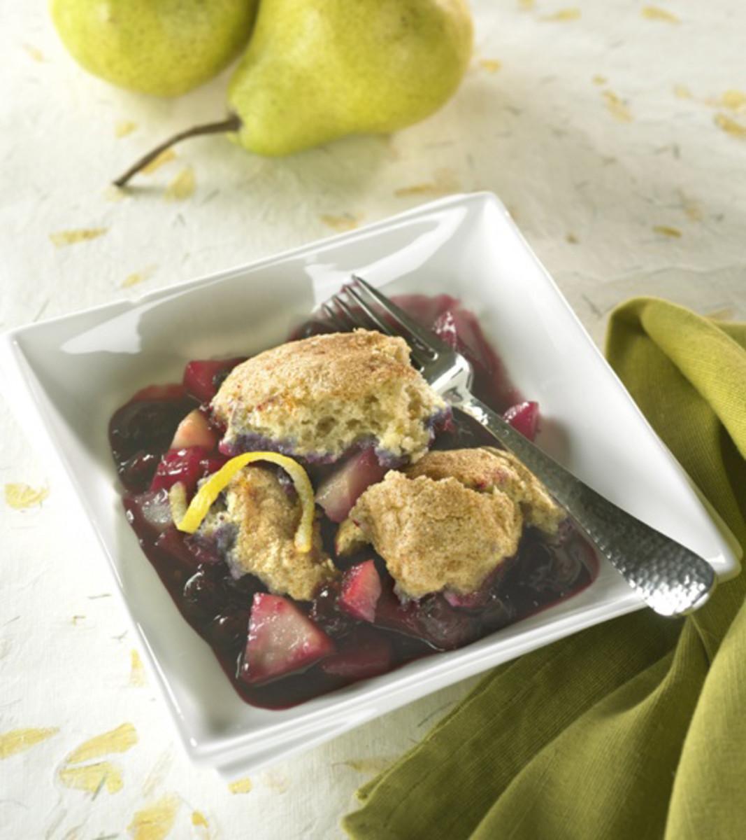 Blueberry-Lemon Country Cobbler