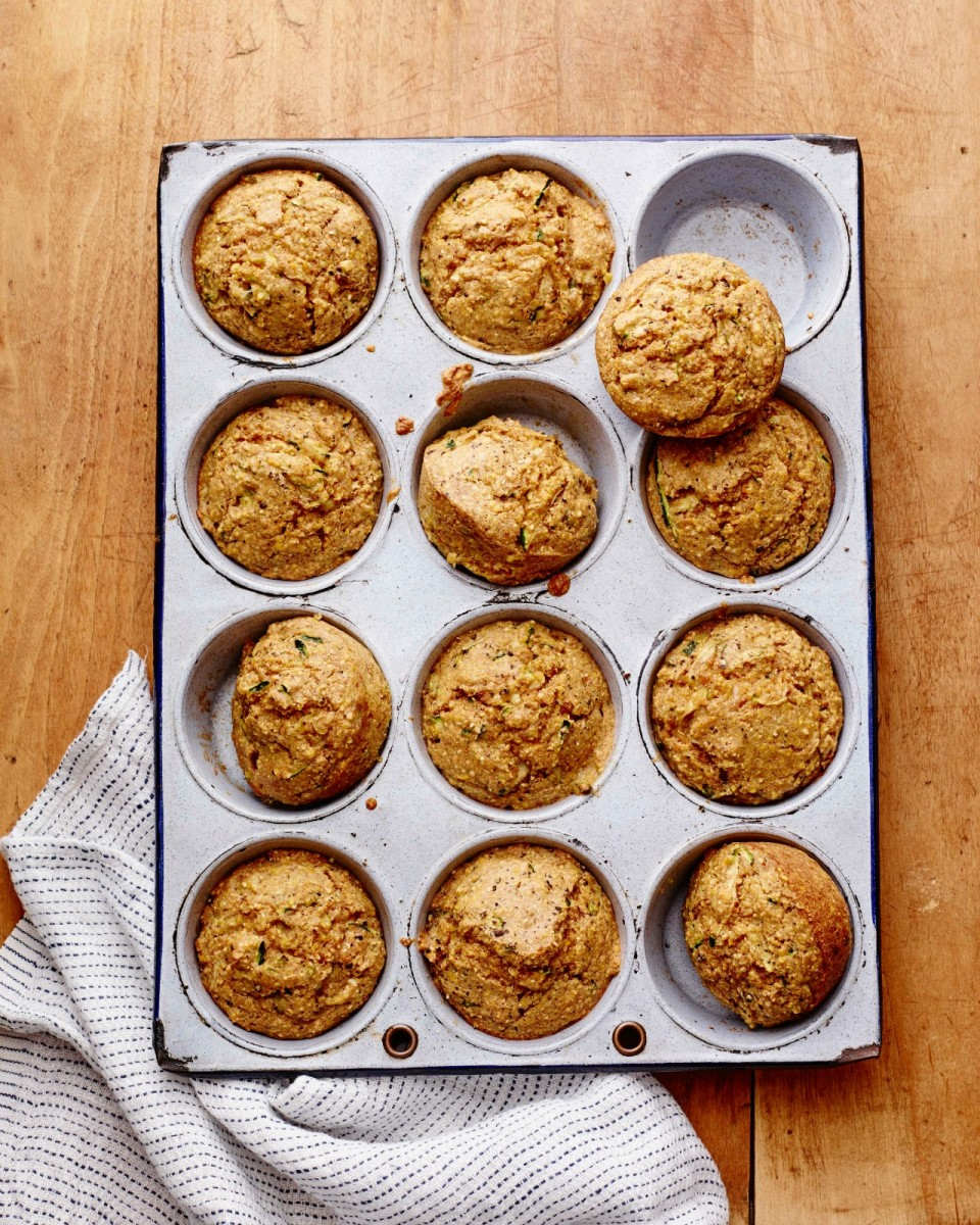 Zucchini Corn Muffins vertical