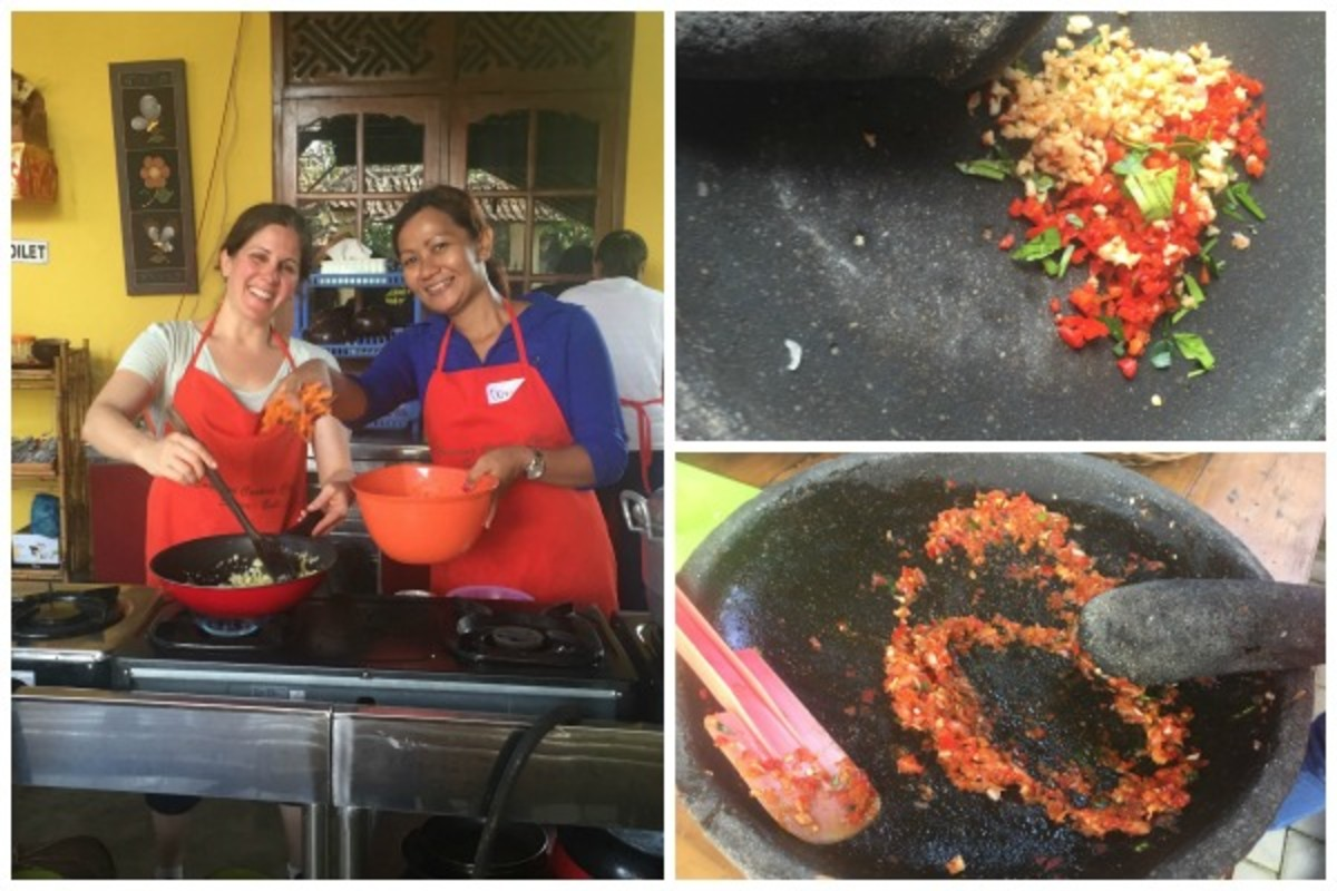 cooking in Bali