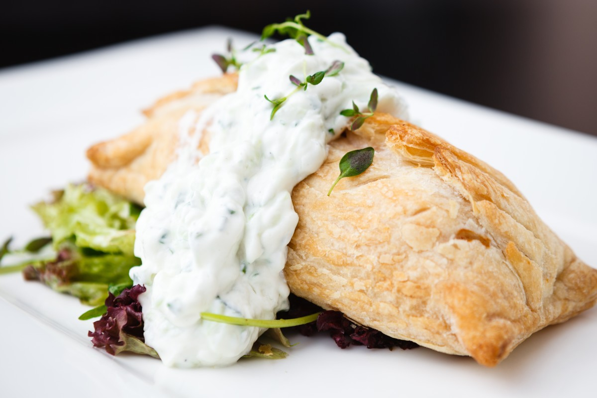 smoked salmon and spinach puff pastry russian pie