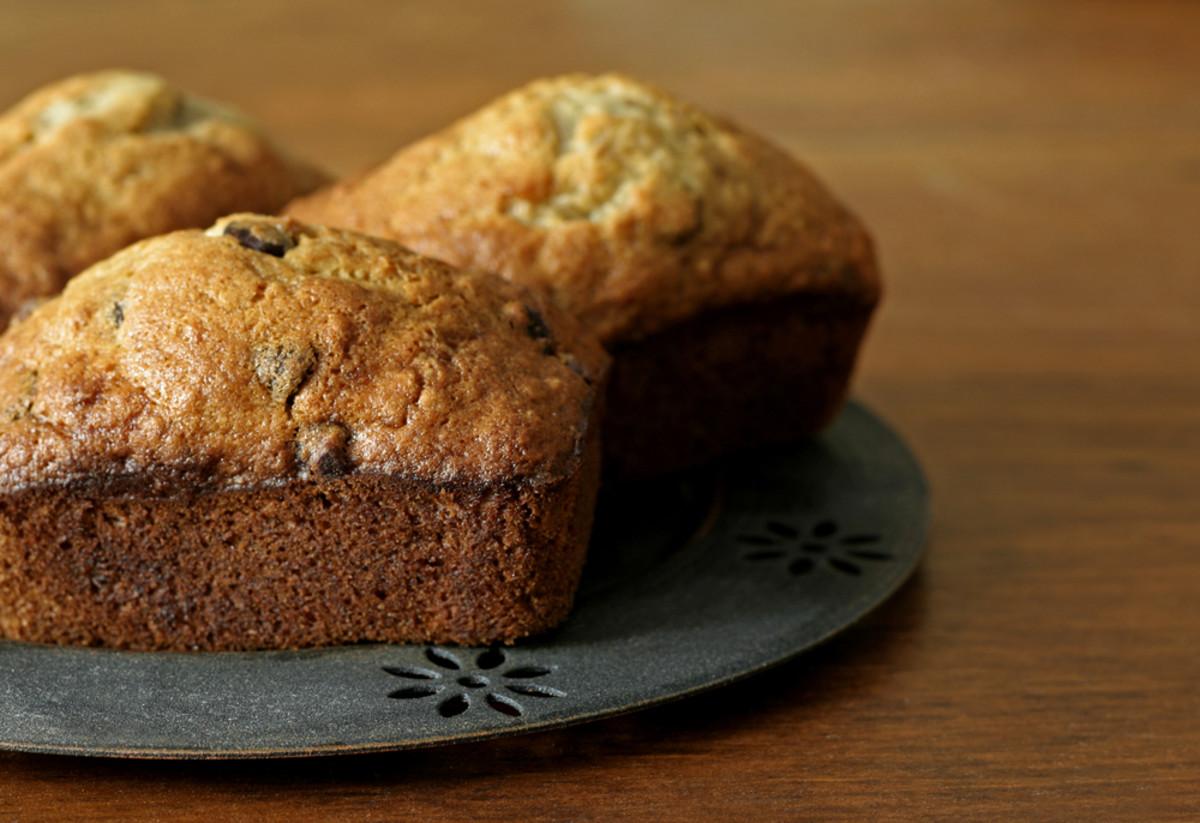 mini triple chocolate breads