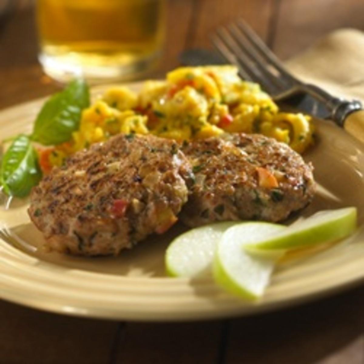 Chicken, Apple and Basil Sausage Patties