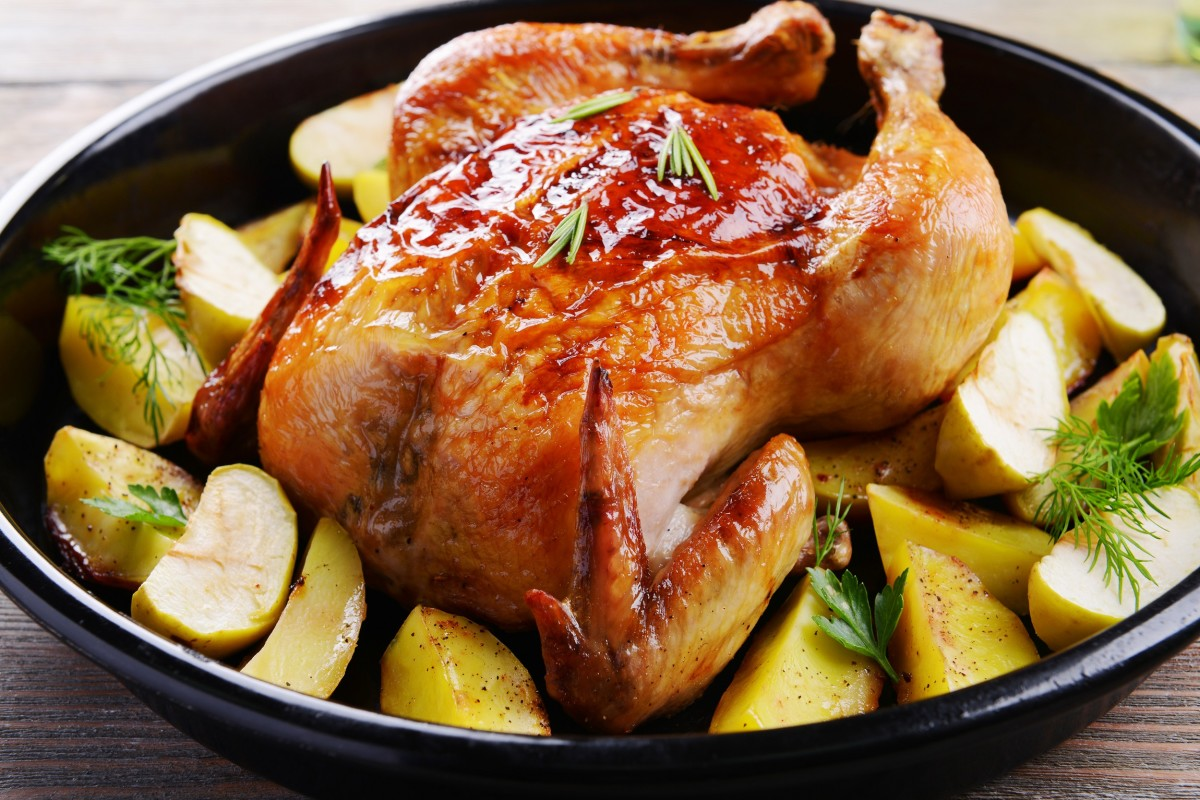 Roasted Cider Ginger Chicken