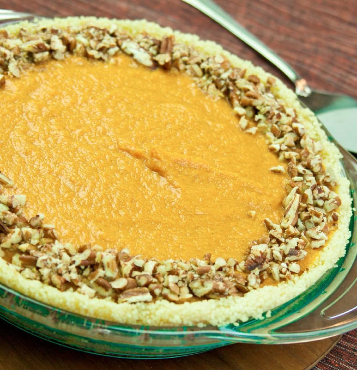 Eggless No Bake Pumpkin Pie
