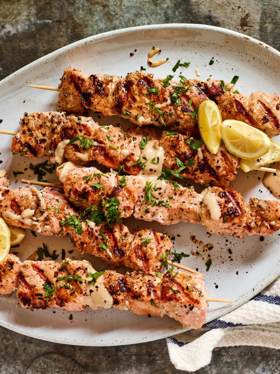 fish kabobs