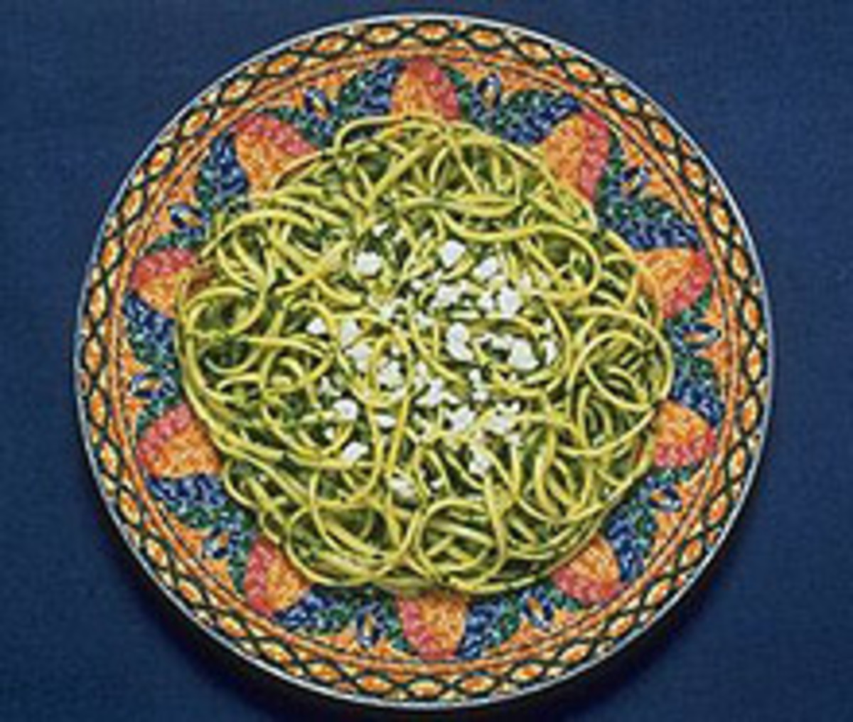 Linguine and Spinach Pesto