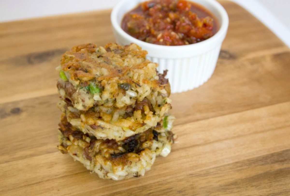 bean and rice fritters