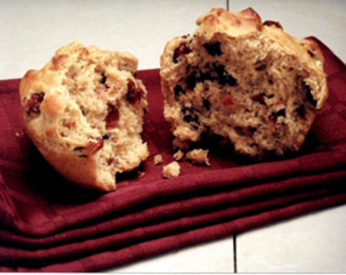 Dried Cranberry Oat Muffin