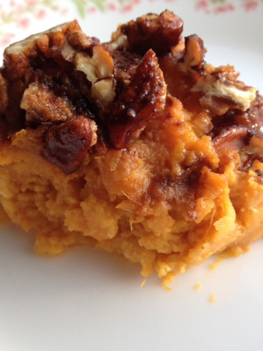 sweet potato casserole pecans