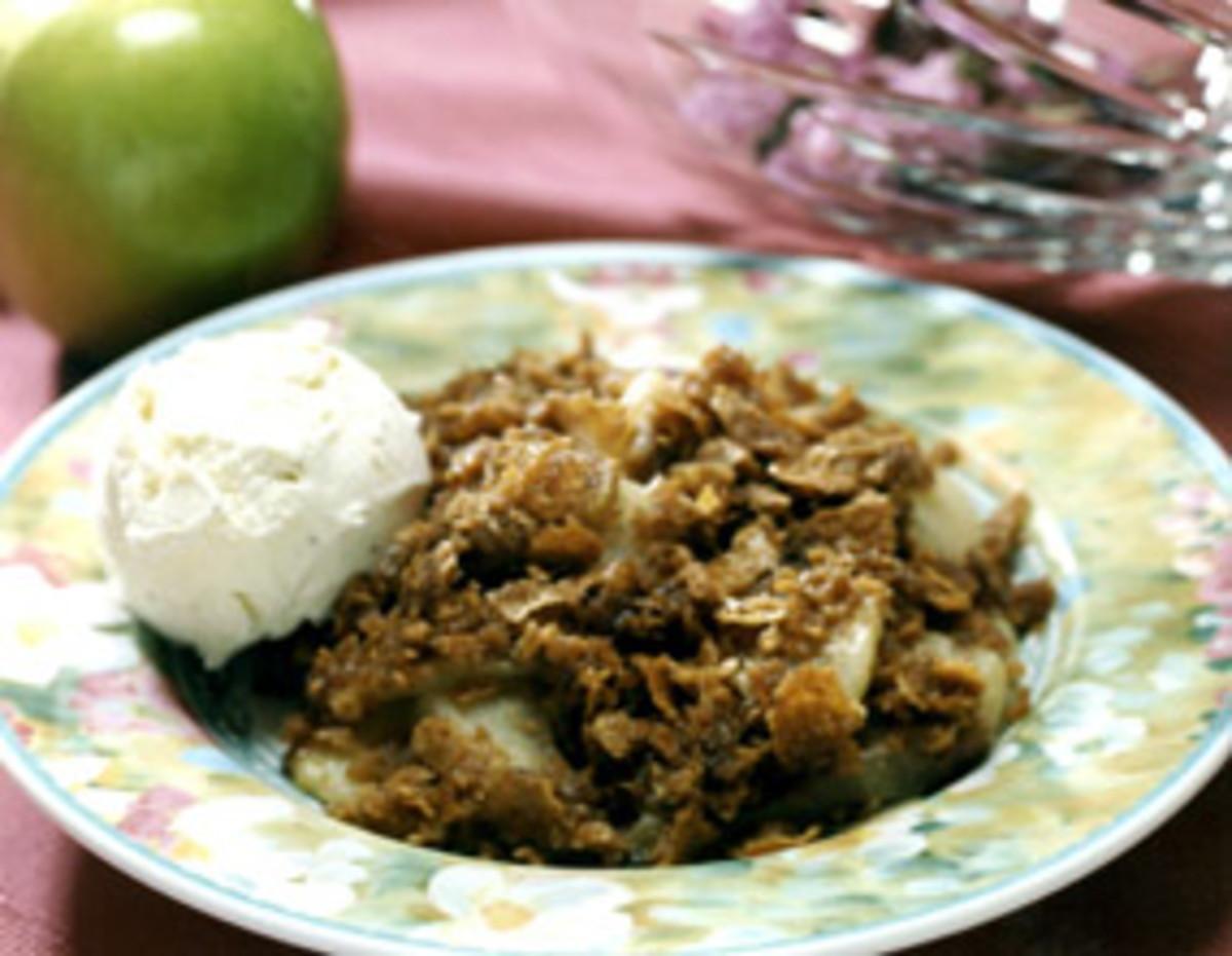 Cinnamon Apple Crisp w/Crushed Wheat Topping