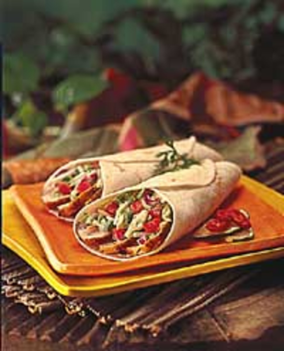 Jerk Turkey Wraps