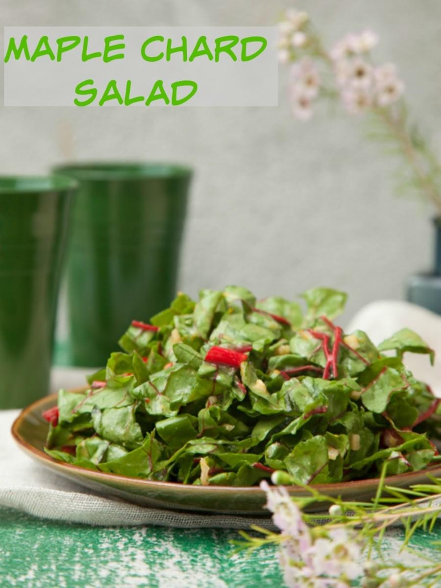 maple chard salad long