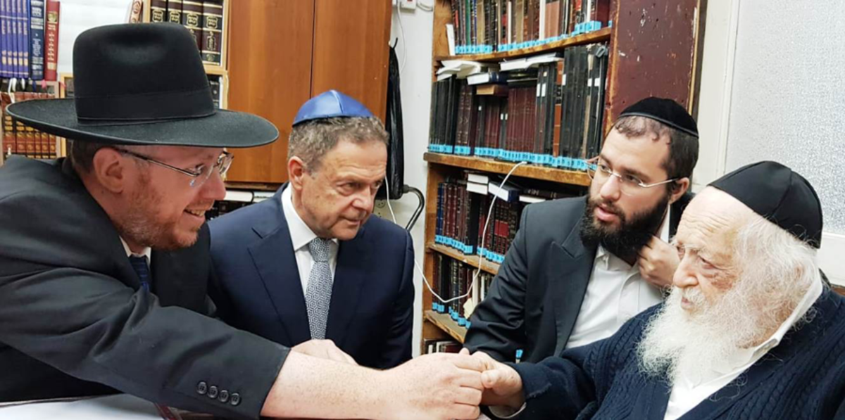 "With General Manager Avner On, ""paying a visit to the Rabbi I admire most,""  HaGaon HaRav Chaim Kanievsky Shlita"